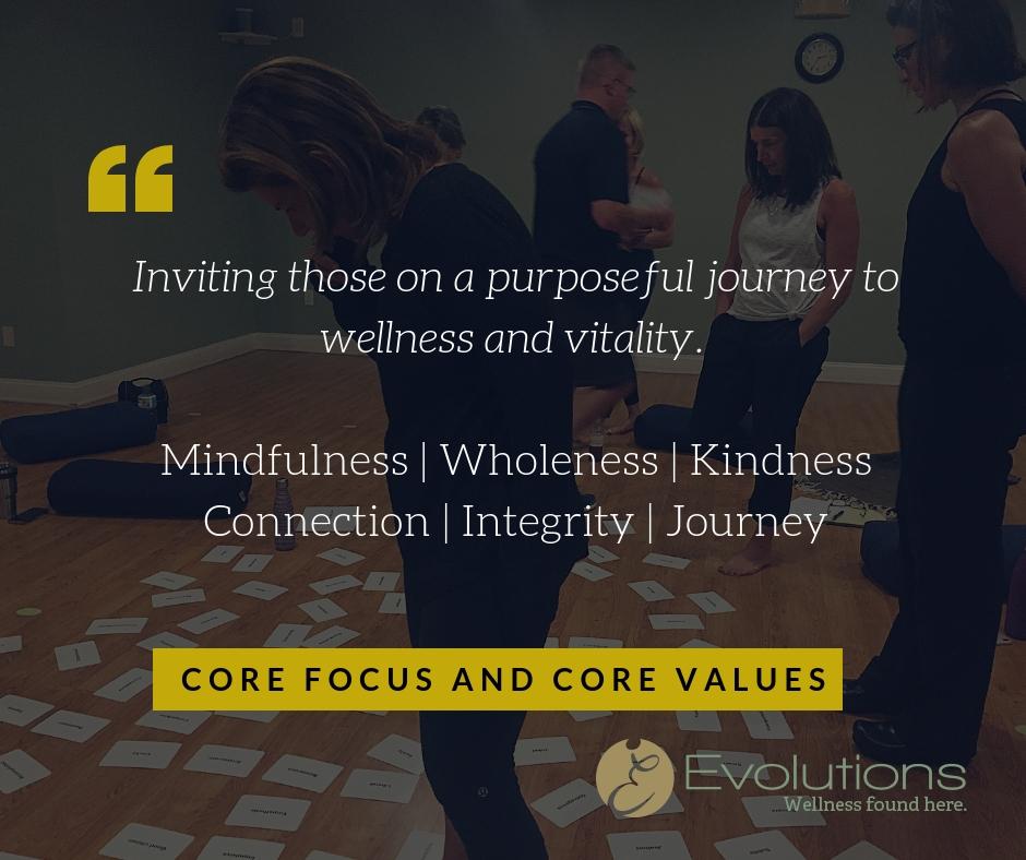 core purpose focus values