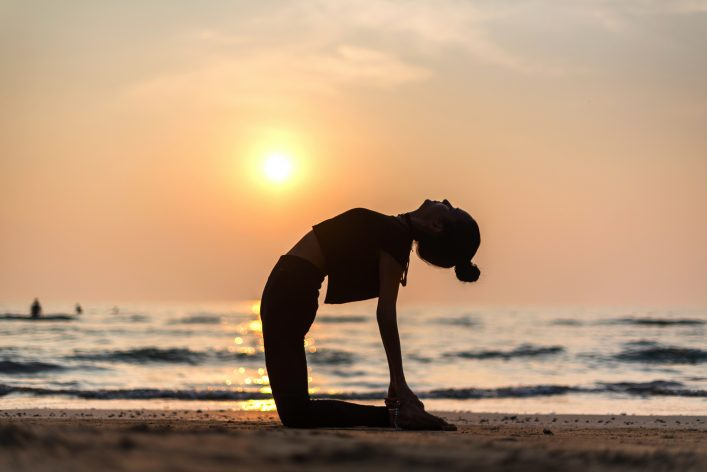 beauty of impermanence yoga on the beach
